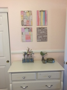 Clip boards I added Paige Evans paper to. I display recent projects here.