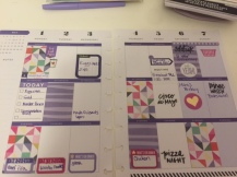 Another Happy Planner Spread, Using Paige Evans paper.