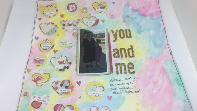 A layout I scrap lifted from Adele Tooney.