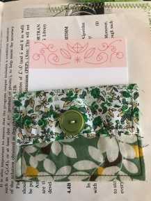 Green Journal, fabric pocket