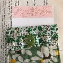 Green Journal, fabric pocket
